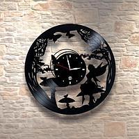 Настенные часы из пластинки Алиса в стране чудес, подарок детям в детскую комнату, 0031