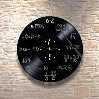Настенные часы из пластинки Математика / физика, подарок физику, математику, учителю, 0089