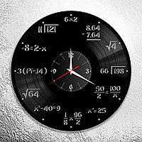 Настенные часы из пластинки Математика, подарок математику, учителю, преподавателю, 1075