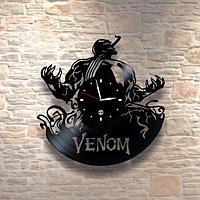 Настенные часы из пластинки, фильм Venom Веном, подарок фанатам, любителям, 0473