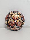 Шкатулка с цветами Петриковская роспись, подарок женщине, девушке, маме, бабушке, 14 см, 003, фото 7