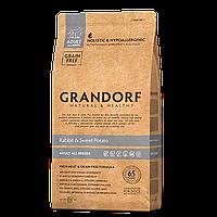 596017 GRANDORF Rabbit Adult, сухой корм для собак всех пород, кролик с картофелем, уп.1 кг.