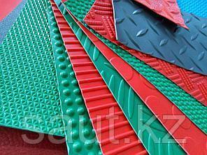 Резиновое рулонные мелкий рубчик, цветные