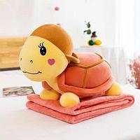 Мягкая игрушка-подушка-плед 3 в 1 Черепаха