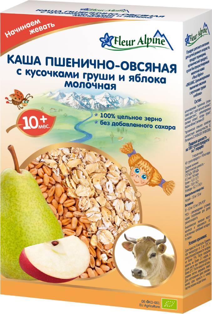 Каша молочная Пшенично-Овсяная с кусочками груши и яблока с 10 мес