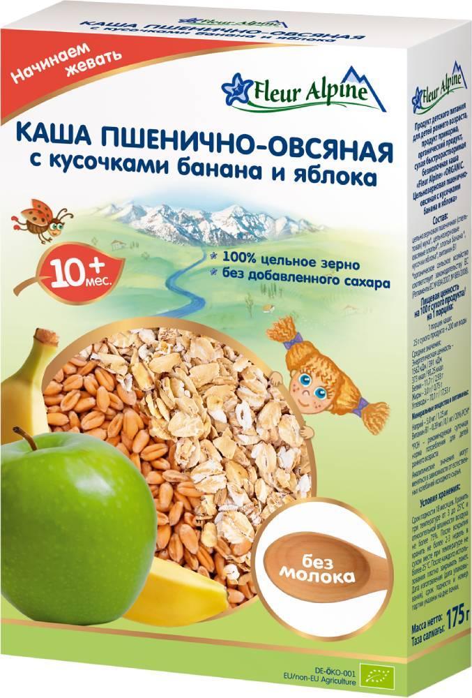 Каша Пшенично-Овсянная с кусочками банана и яблока Fleur Alpine с 10 мес