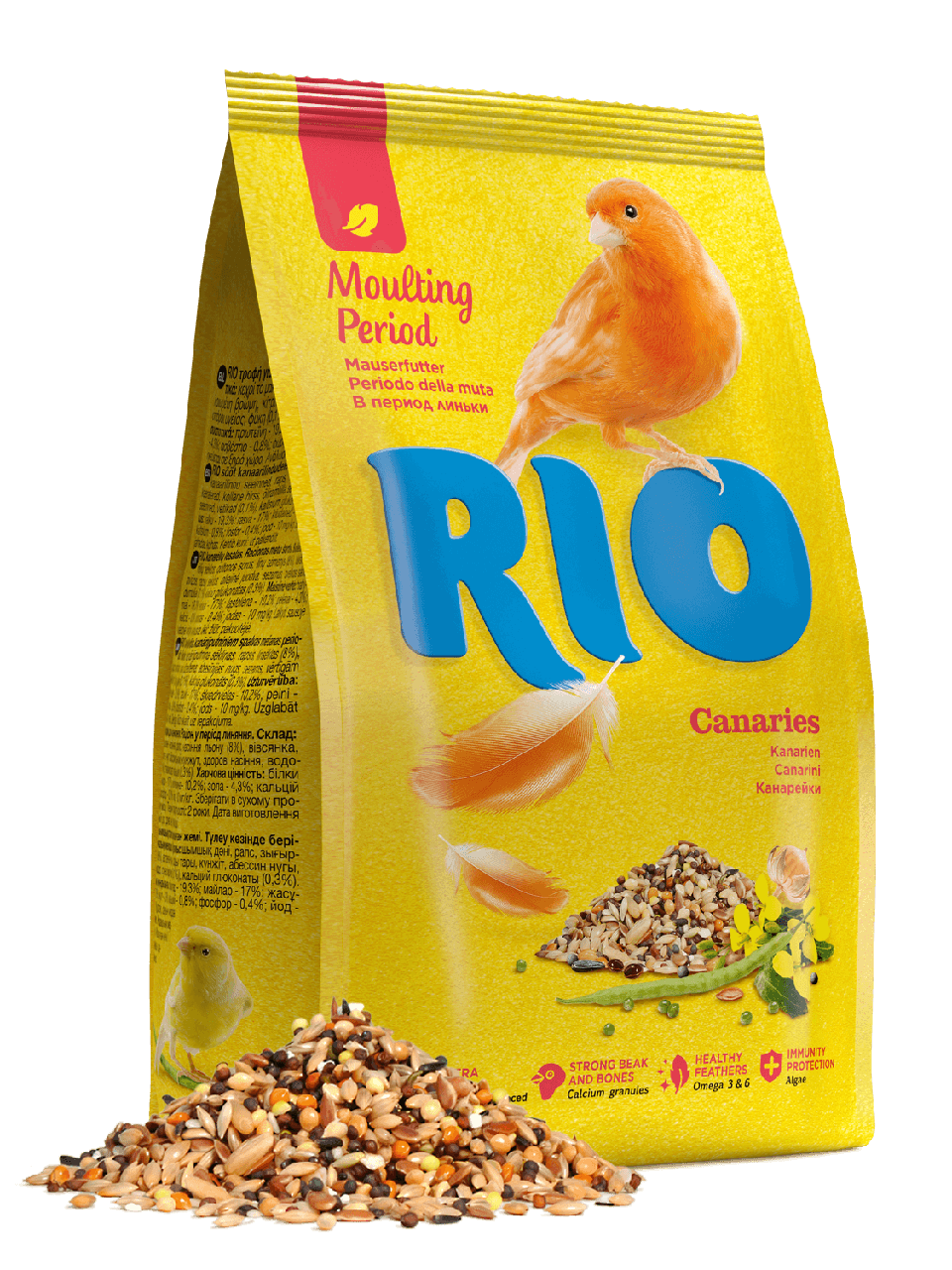 RIO Корм для канареек, рацион в период линьки уп.500гр.