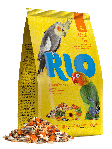 RIO Корм для средних попугаев, основной рацион, уп. 500гр.