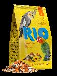 RIO Корм для средних попугаев, основной рацион, уп. 1кг.