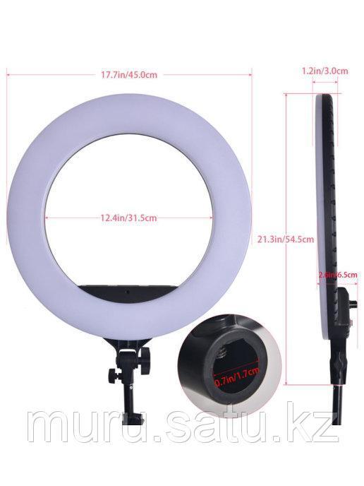 Кольцевая лампа 45 см со штативом 2м + микрофон подарок! - фото 1