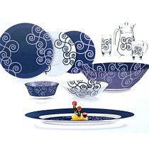 Столовый сервиз Luminarc Simply Marah Blue 46 предметов на 6 персон