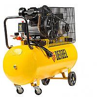 Компрессор воздушный BCV2200/100, ременный привод, 2.2 кВт, 100 литров, 370 л/мин Denzel
