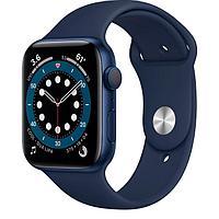 Смарт Часы Apple Watch Series 6 GPS, 44mm Blue Aluminium Case with Deep Navy Sport Band