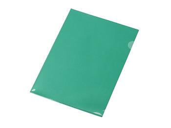 Папка-уголок прозрачный формата А4  0,18 мм, зеленый глянцевый