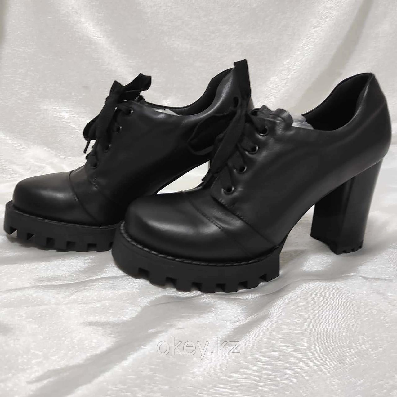 Ботинки женские ботильоны коричневые под замшу