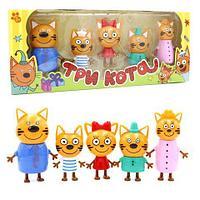 Набор фигурок-героев мультфильма «Три Кота: счастливая семья» (5 персонажей)