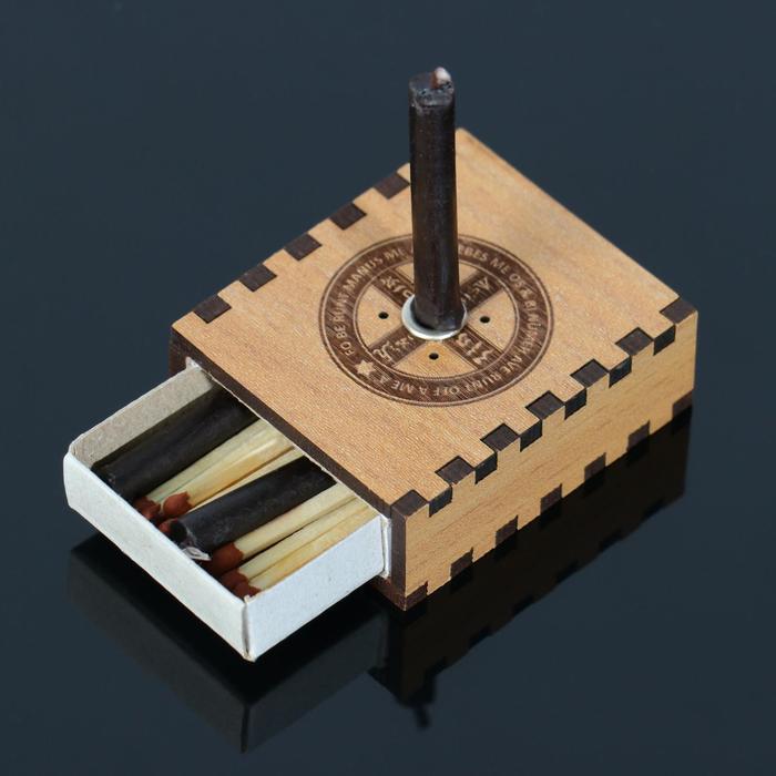 "Набор ларец желаний ""Щит от врагов"" со свечками, 5,2х4,5х2 см"