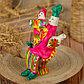 Филимоновская игрушка «Солдат на стульчике», фото 7