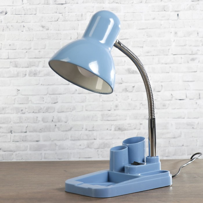Настольная лампа 1х60вт E27 синяя