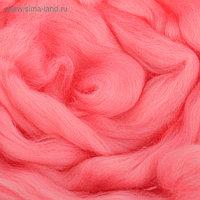 Гребенная лента 100% шерсть аргентинский меринос 50гр (0160, розовый)