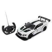 Радиоуправляемая машина RASTAR 70600W 1:14 Bentley Continental GT3 Пластик 27 Mhz Белый