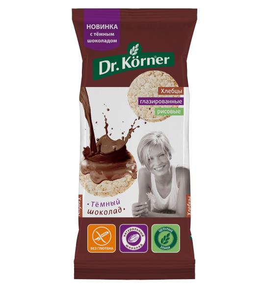 Dr.Korner Хлебцы глазированные рисовые с темным шоколадом