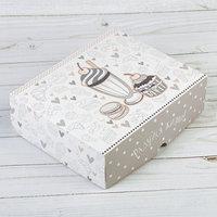 Коробочка для кондитерских изделий 'Радуйся жизни', 17 x 20 x 6 см (комплект из 5 шт.)