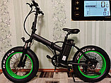 """Bafang 48v 500w (max 1000w), аккум. Li-ion 48v 13 A/H. Электровелосипед складной. Колеса 20*4""""., фото 5"""