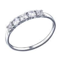 Серебряное кольцо с фианитом SOKOLOV 94011486