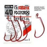 Офсетный крючок Fanatik FO-3312-XL №4/0 RED (красный)
