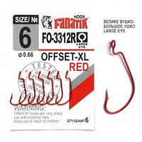 Офсетный крючок Fanatik FO-3312-XL № 6 RED (красный)