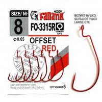 Офсетный крючок Fanatik FO-3312-XL № 8 RED (красный)