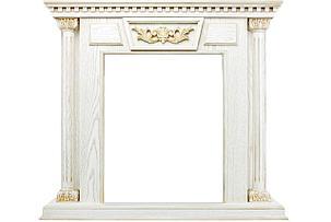 Каминокомплект Olympia - Белый дуб, патина с золотом / Дуб антик с очагом Albany, фото 2
