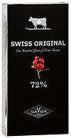 SWISS ORIGINAL горький шоколад с кусочками клюквы в картоне 100гр (10шт - упак)
