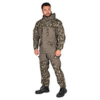 Костюм летний Huntsman Горка-V2, цвет хаки/MV-18, ткань Канвас, размер 44-46/170