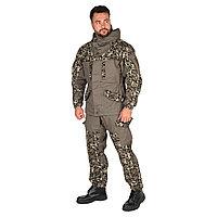 Костюм летний Huntsman Горка-V2, цвет хаки/MV-18, ткань Канвас, размер 56-58/182