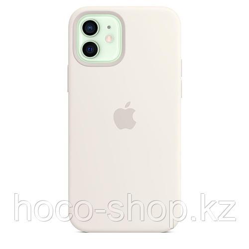 Чехол для смартфона Apple Silicone Case для Apple iPhone 12 with MagSafe белый