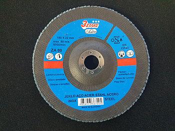 Круг лепестковый Inox&Metal 180х22,23 3STARS LBD-K Z80 (Weiler Abrasives, Slovenija)