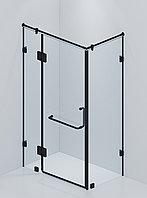 Стеклянная угловая душевая в черном цвете, модель А15 BLACK. 1900 * 900 * 900