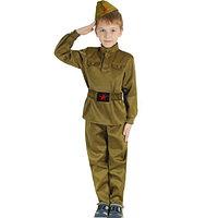 Костюм военный детский карнавальный для мальчиков защитного цвета