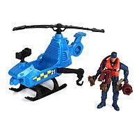 Игровой набор: Спасательный отряд патрульной команды на вертолете