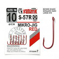 Одинарный крючок FANATIK S-57 MIKRO JIG № 10 RED