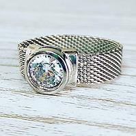 Кольцо из серебра и фианита