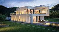 Двухэтажный частный дом проект
