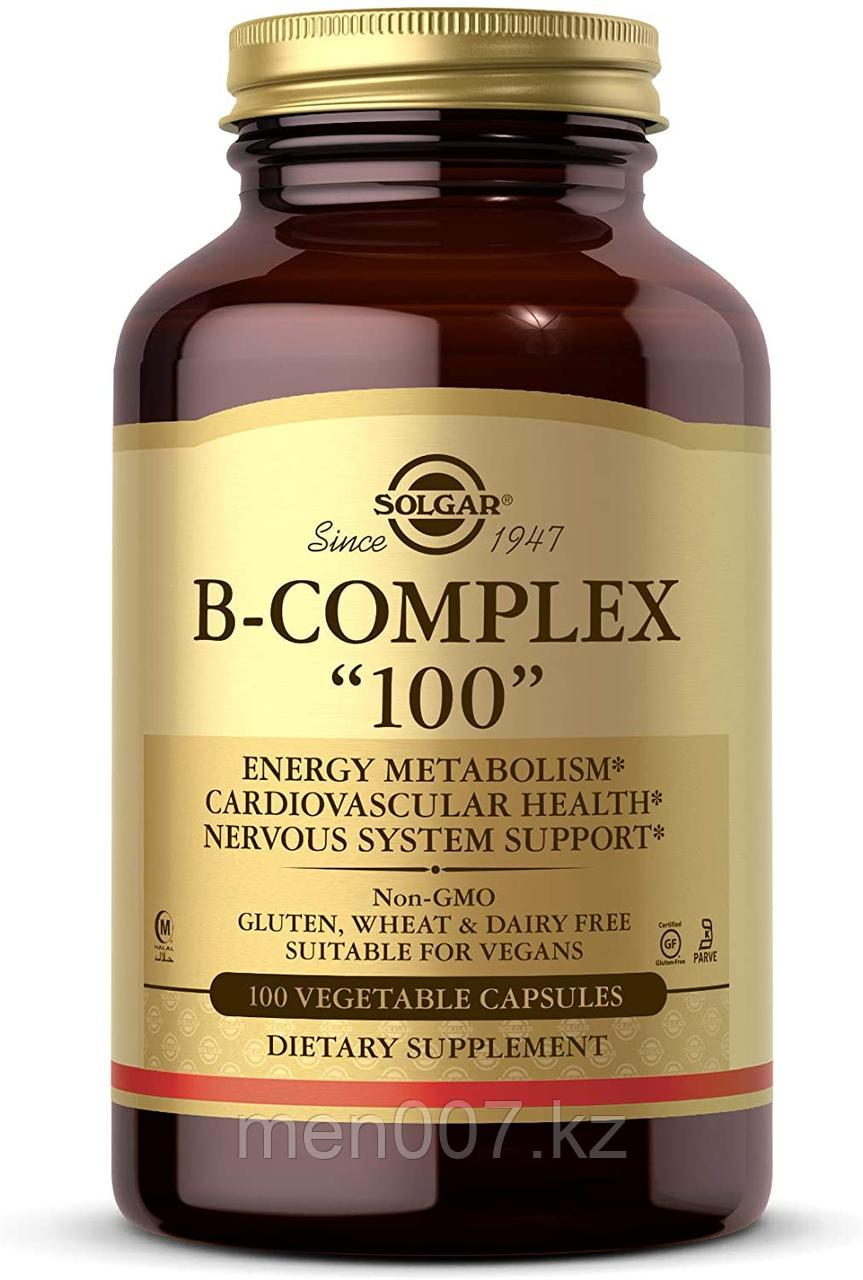 БАД Solgar, комплекс витаминов группы B «100», (100 вегетарианских капсул)