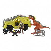 Игровой набор: Охотник на динозавра на джипе