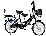 Электровелосипед, мотор 48v 240w, аккум. Li-ion 48v 10A/H. Дальность 40 км. Вес 23 кг. Колеса 20''. Сиденья 3, фото 3