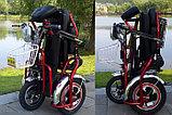 Электротрицикл, складной, мотор 48v 500w, аккум. Li-ion 48v 25A/H. Дальность 55-75 км. Вес 40 кг. Колеса 14''., фото 2
