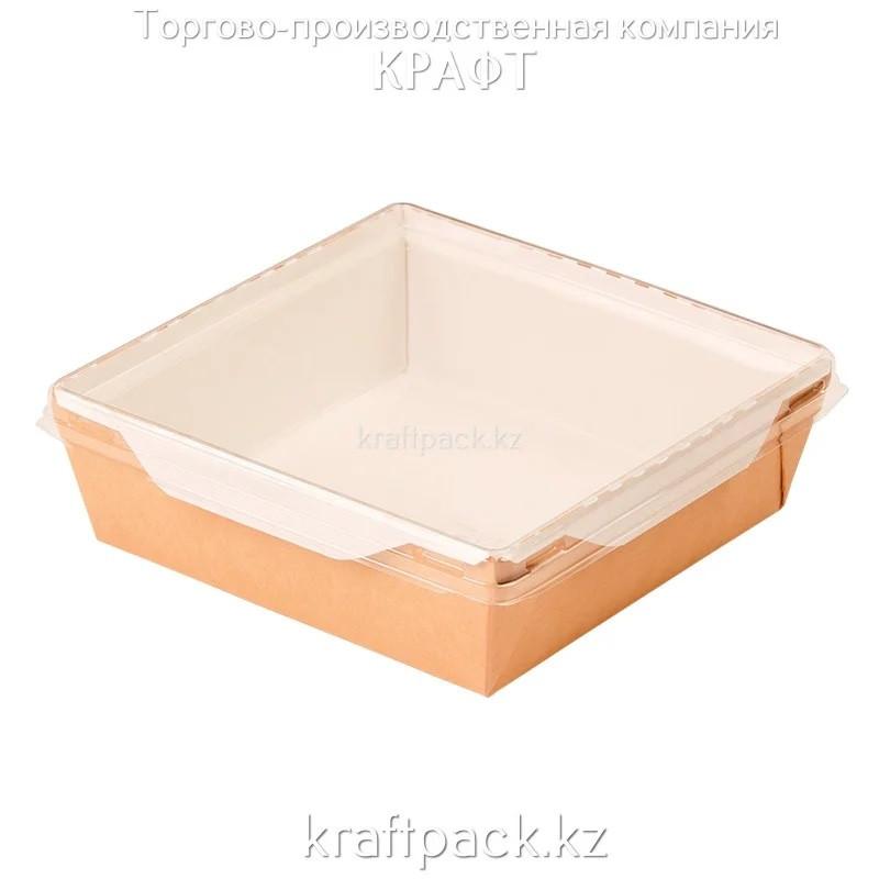 Контейнер, салатник с прозрачной крышкой 900мл 135*135*55 (Eco Opsalad 900) DoEco (50/200)