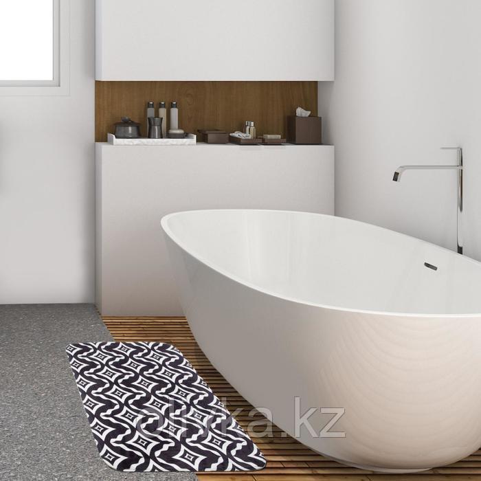 """Коврик для ванной Этель """"Узор"""", 80х50 см, велюр"""